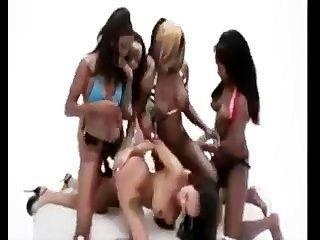 Ebony Lesbian Strap On Gangbang