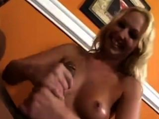 Hot Blonde Services Her Hung Man