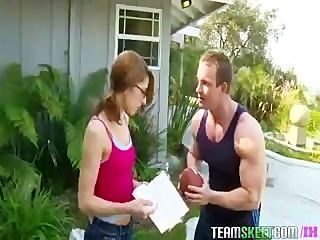Nerdy Lexi Bloom Gets Fucked Hard By Her Basketball Coach
