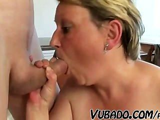 Old Mama Fucking With Young Man !!