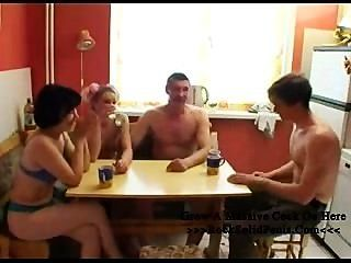 Family Strip Poker Goes Disastrous