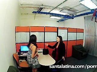 Secretary Caught Masturbating At The Office