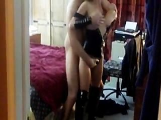 Hot Wife And Hubby Visiting Stranger To Cuckold