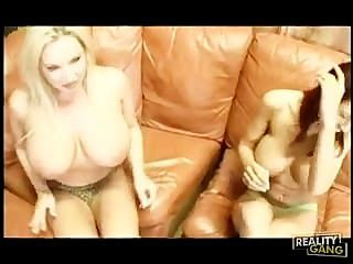 Red And Blonde Big Tits Get Fucked