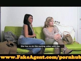 Fakeagent Two Girls Make Me Cum Quiick