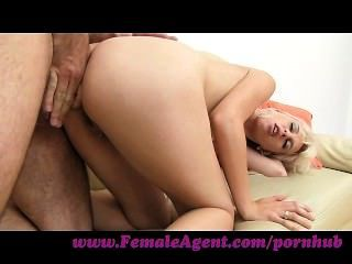 Femaleagent. Tight Blonde Anal Casting