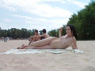 Geri naked in the woods