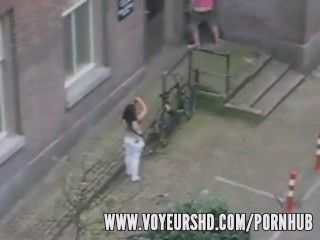 Voyeur Caught Sex Under His Balcony