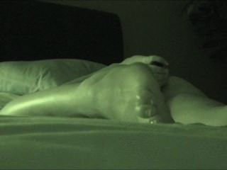 Real Hidden Masturbation While Watching Porn - Night Vision