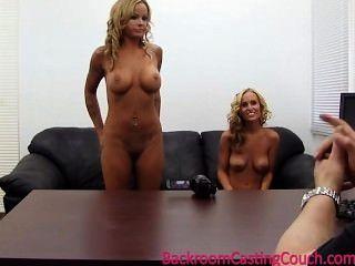 2 Busty Girlfriends Walk In To An Office...