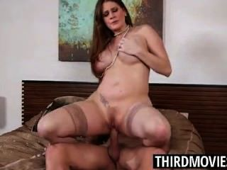 Allison Moore Has Big Cum Covered Tits