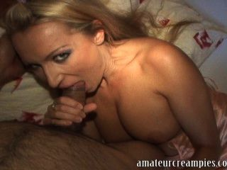 Hot European Woman Gets Her Pussy Filled Up With Sperm From American Man
