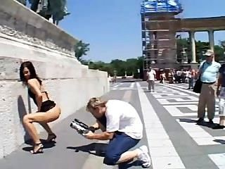 Euro Slut Sucks And Fucks Outdoors In Paris