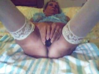 Granny With Black Dildo