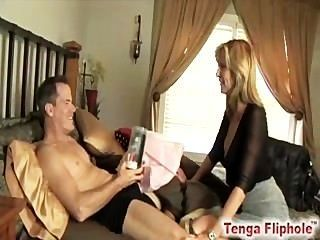 Milf Leaves Her Hubby With A Toy