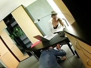 Petite Secretary Claudia Rossi In Lingerie Fucking At The Office