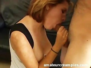 Lea Frilled And Creampied On Bed