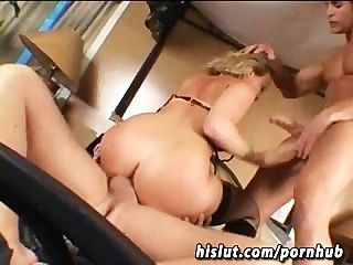 Kaite Gold Get Fucked In Rough Gangbang