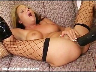 Taylor Brutally Fucks Sophia With A Huge Brutal Black Dildo