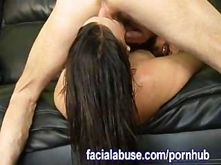 Ass Licking Slut Fucked By 2 Guys