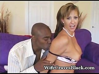 Hottie Worships Huge Black Cock