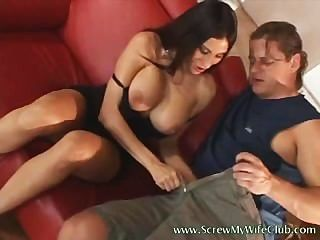 Hubby Watched His Wife Got Into A Very Messy Sex