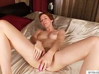 Horny Mom Gives Her Clit Intense Pleasure