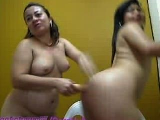 Mature Latinas Use A Bat In Their Asses
