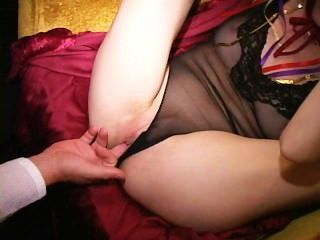 Contortionist Milf Fingered With Leg Behind Head