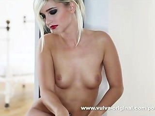Blonde Teen Squirts Her Pussy Juice In Bottle And Sells For Real!