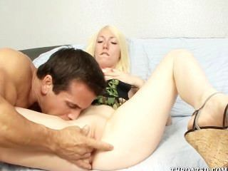 Tegan Riley Deep Throats A Cock For The First Time