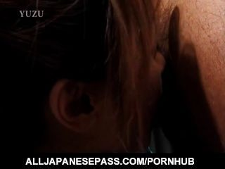 Mature Honey Aya Kurosaki In A Kimono Paints Her Toe Nails Before Sucking
