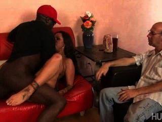 Jealous Husband Watching Her Fuck Black Guys