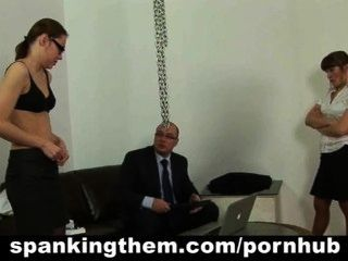 Lazy Secretary Babe Gets Spanked By Her Boss