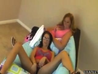 Stepmom And Daughter Handjob
