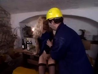 Camilla Krabbe - Cute Blonde Teen Fucks Workman