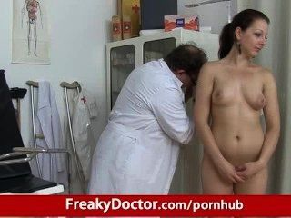 Chubby Brunette Tarya King And Old Gynecologist