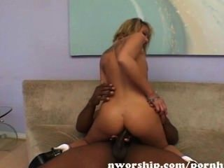 Blonde Teen White Pussy Into Interracial Sex With A Big Black Cock