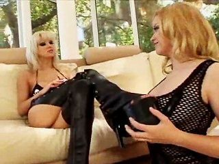Holly Morgan Plays With Milf Friend