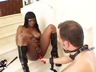 Ebony Slut Fucks Her Sex Slave