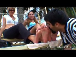 Cheerleader Foot Worship Out