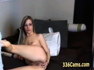 Skinny Hot Teen Pussy And Ass Play With Toys On Webcam