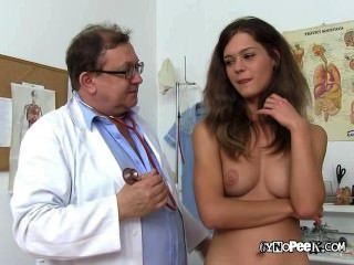 Blonde Girl Veronica For Nude Medical Exam