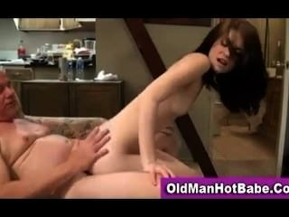Little Teen Gets Old Dick