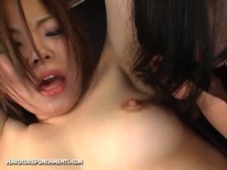 Japanese Femdom Ties Pretty Slave To A Rack And Fucks Her With Sex Toys