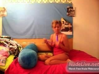 Very Hot Amateur Blonde Teen Self Pleasure On Webcam