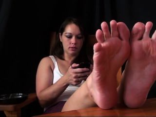 Addison Big Soles And Smoking