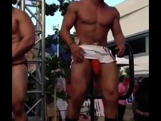 Hung Latin Gogo Dancer @ La Gay Pride