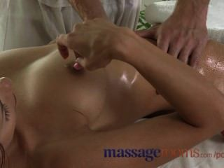 Massage Rooms Petit Teen Takes A Big Cock And Creampie From Young Stud