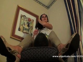 Goddess Spitting All Over A Slave